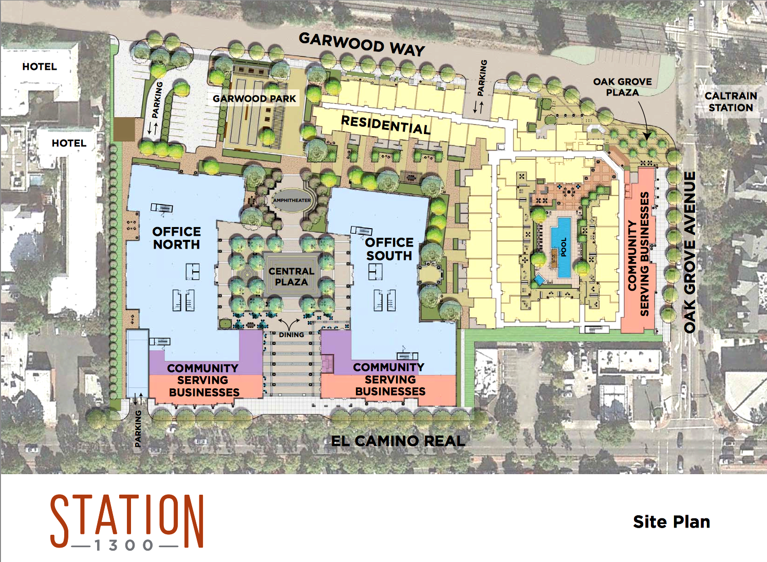 Growth cap in long range menlo park plan nearly exhausted for Hotel parking design