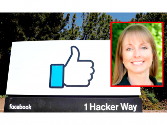 Facebook's headquarters in Menlo Park and Councilwoman Catherine Carlton