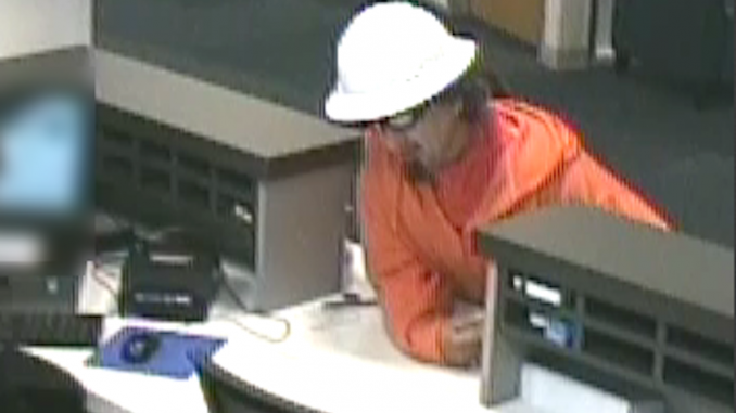 This man held up the Comerica Bank branch at 250 Lytton Ave. today (April 13). Surveillance video screen grab from Palo Alto Police.