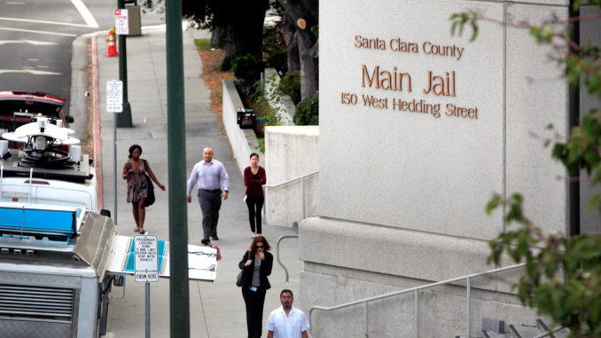 The Santa Clara County Main Jail in San Jose. The county also has a jail in Milpitas. AP file photo.