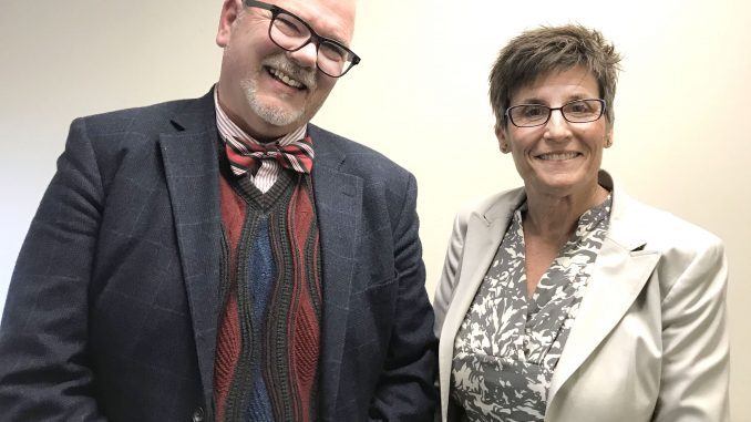 Gary Waddell and Nancy McGee. Post photo.