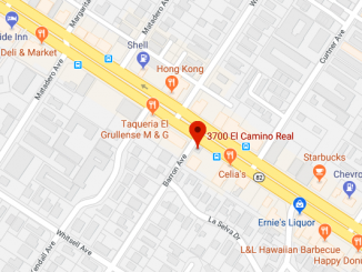 Location of Monday's collision between a bicyclist and a car in Palo Alto. Google Maps