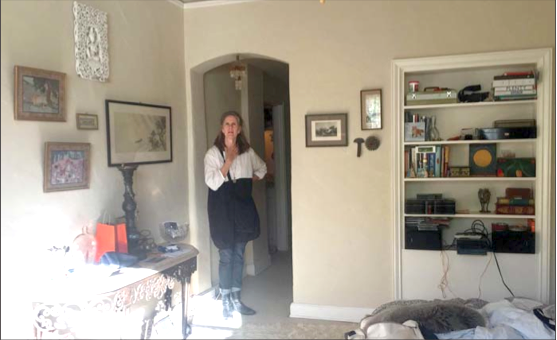 Susan Powers in her Hotel President Apartment. Post photos by Allison Levitsky