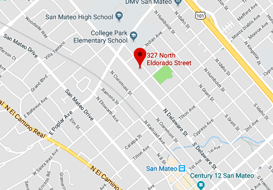 The fire struck two homes at 327 N. Eldorado St. in San Mateo