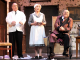 """From left, Shawn Bender as John, Patricia Tyler as Sarah, and James Shelby as Sheridan Whiteside in the Palo Alto Players' """"The Man Who Came to Dinner."""" Photo by Joyce Goldschmid."""