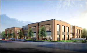 This is the office portion of the development the Beltramo family intends to build at 1540 El Camino Real in Menlo Park.