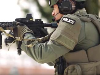 A scene from a Palo Alto police recruitment video.