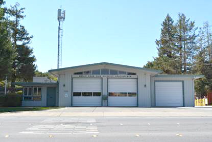 Menlo Park Fire Protection District Station 4 at 3322 Alameda de las Pulgas in unincorporated west Menlo Park
