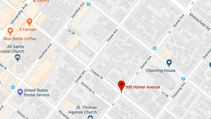 Police said the mugging happened in the 500 block of Homer Avenue in Palo Alto.
