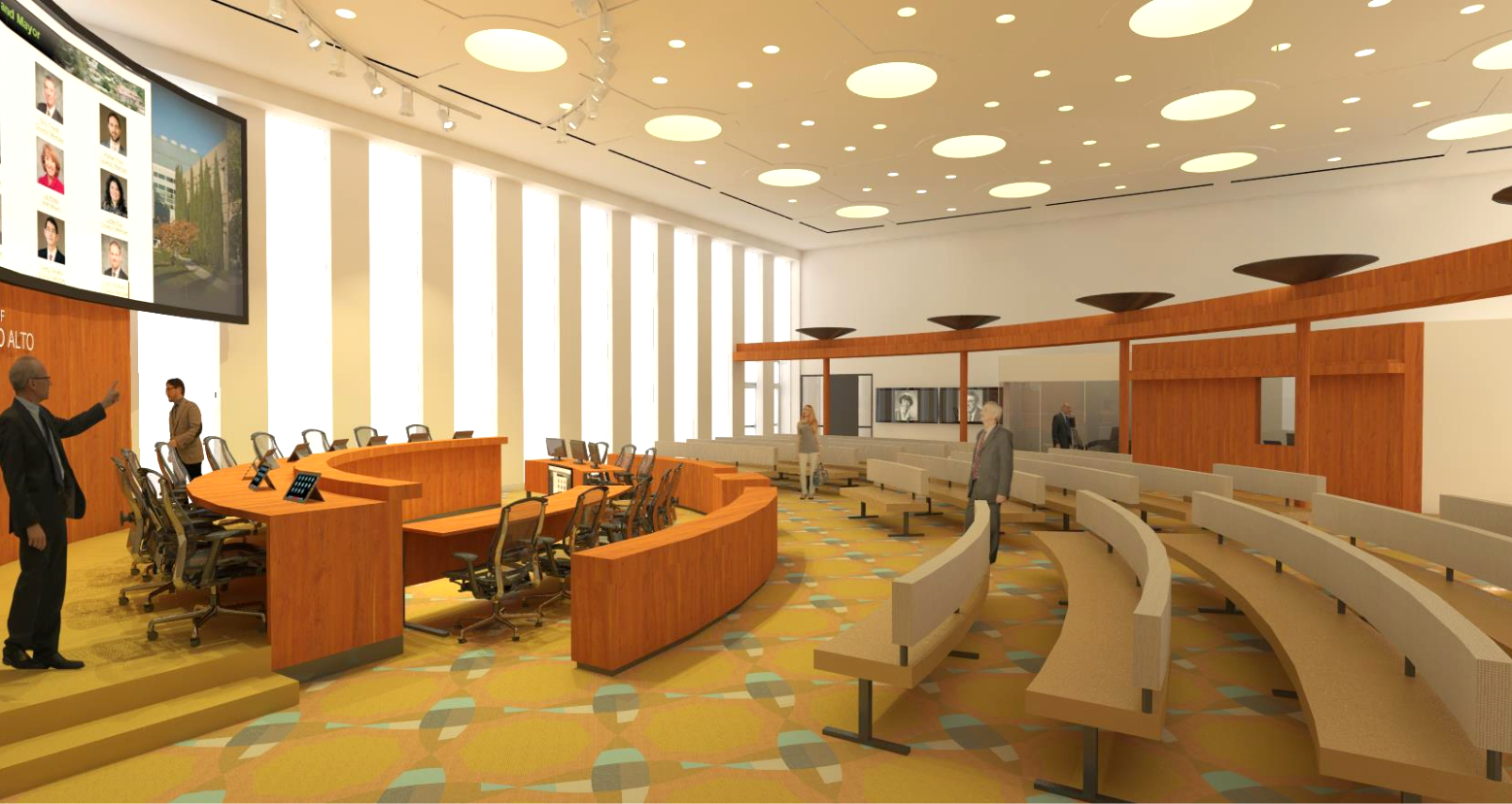 refreshed council chambers