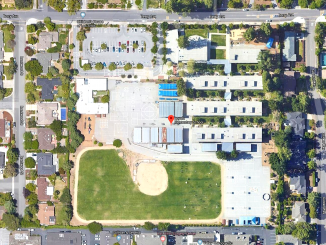 Loyola Elementary School as seen from Google Earth