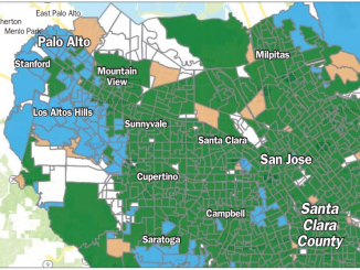 In this map from the Registrar of Voters' website, the green shows precincts that voted in favor of the recall of Judge Aaron Persky while the blue represents precincts where the recall failed.