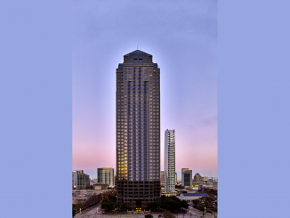 An example of a 50-story building is the Trammell Crow tower in Dallas. Photo from the website of Steam Realty Partners.