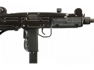 A file photo of an Israeli-made Uzi machine gun. A gun like this was surrendered at a San Mateo County gun buyback event.