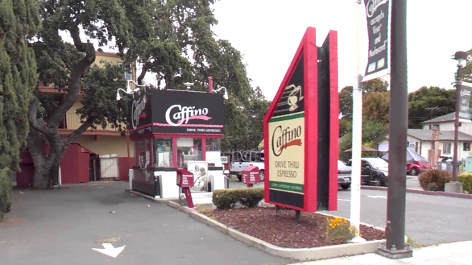 the caffino drive thru at 2797 el camino real in redwood city google streetview