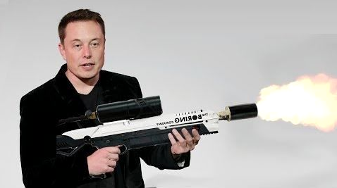 Elon Musk demonstrates his flamethrower