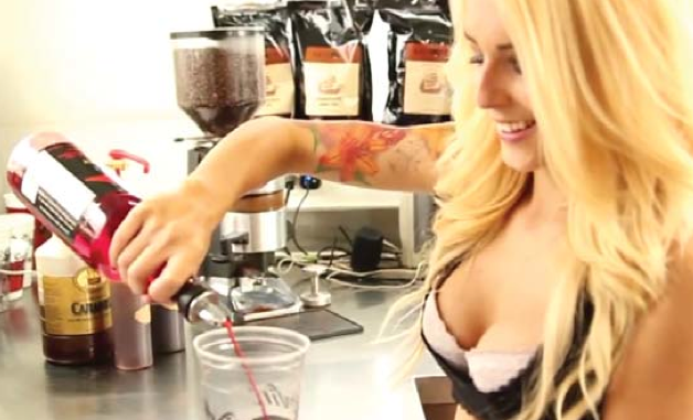 Barista Amber Hope appeared in a promotional video for Pink Pantherz Ex- presso's store in Modesto.