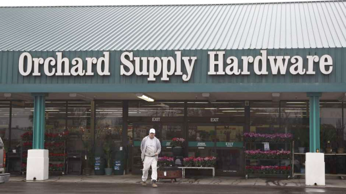 a customer leaves orchard supply hardware store in mountain view in this 2012 associated press file photo