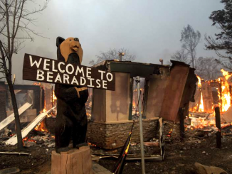 The Camp Fire consumed the Black Bear Diner at 5791 Clark Road in Paradise. AP photo by Noah Berger.