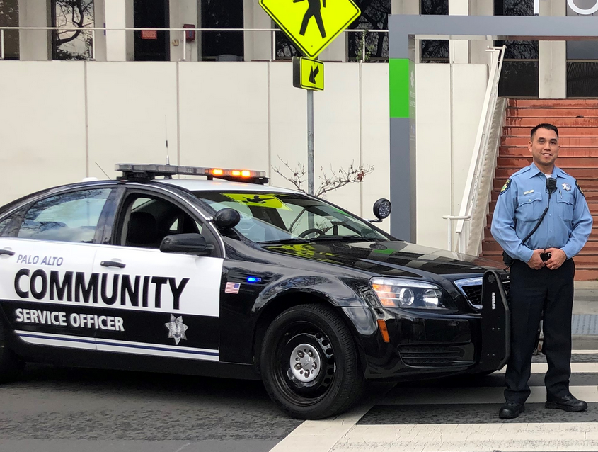 The Palo Alto Police Department's new community service officer cars.