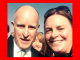 Then Gov. Jerry Brown and then-Menlo Park Councilwoman Kirsten Keith posed for this selfie at the groundbreaking of high-speed rail in Fresno in 2015. Keith later sent out the photo on Twitter.