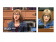 At left, SNL cast member portrays local Congresswoman Jackie Speier and on the right is the real Jackie Speier.
