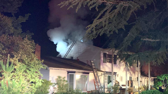 A fire broke out in this home at 1882 Austin Ave. in Los Altos this morning (May 29). Photo courtesy of the Santa Clara County Fire Department.