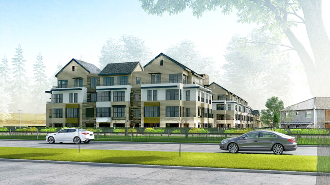 Prometheus Real Estate Group provided this illustration of its proposed housing development at 1720 Villa St. in Mountain View.