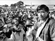In this March 7, 1979, file photo, United Farm Workers President Cesar Chavez talks to striking Salinas Valley farmworkers during a large rally in Salinas. Chavez died in 1993. AP photo by Paul Sakuma.