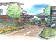 An illustration of the renovated Castilleja School campus by Steinberg Hart architects.