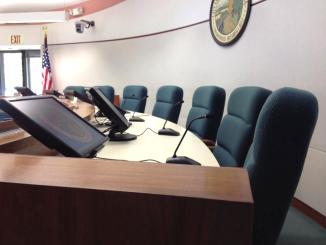 The Los Altos City Council dais. Photo courtesy of the city.