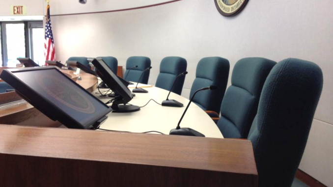 The Los Altos City Council dais. Photo courtesy of the city.