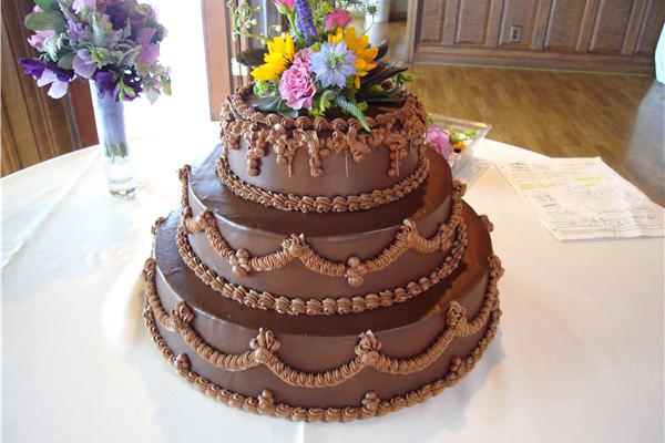 A Prolific Oven chocolate three tier stack cake. Photo from the Prolific Oven website.