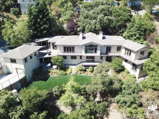 A real estate listing photo shows a six-bedroom house at 379 Greendale Way in Redwood City's Emerald Hills neighborhood where former Silicon Valley Clean Water general manager Dan Child used to live.