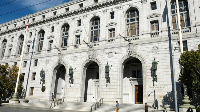 The First District Court of Appeal sits in the Earl Warren Building at 345 McAllister St. in San Francisco. AP file photo.