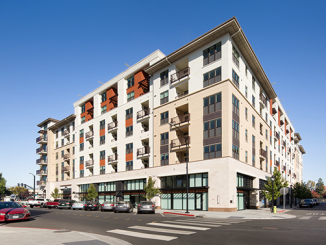 Stanford has purchased this apartment complex at Franklin and Monroe streets to serve as housing for its employees and students.