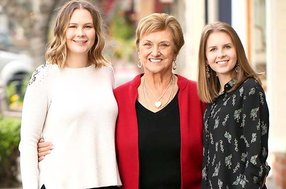 Cook's Junction owner Linda Janes, center, and daughters Emma, left, and Katherine.