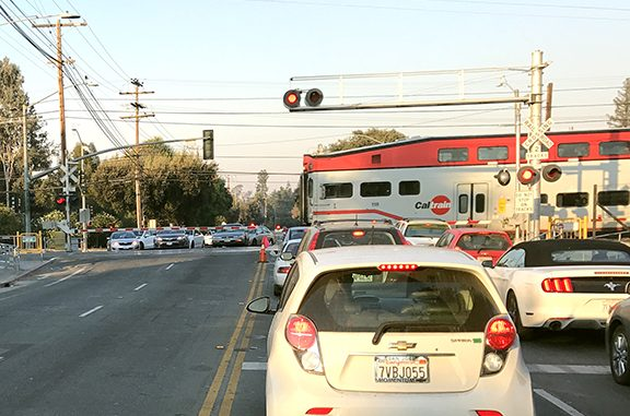 Palo Alto needs to decide by May what it wants to do about its rail crossings including this one at Charleston Road. Post file photo.