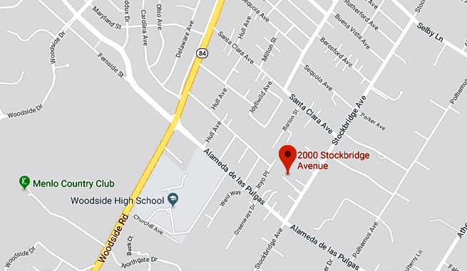 The 2000 block of Stockbridge Avenue is in unincorporated San Mateo County between Redwood City and Atherton. Google maps.