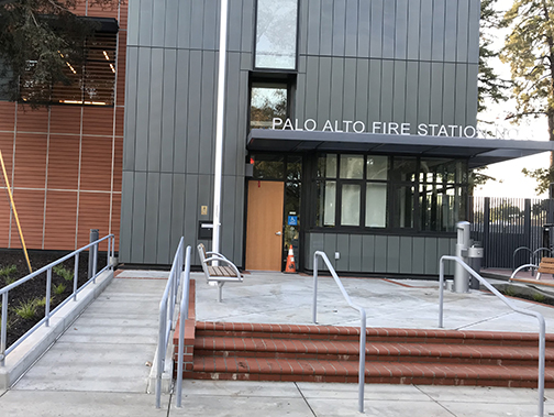 Palo Alto Fire Station No. 3 at Newell Road and Embarcadero Road isn't quite finished. Post photo.
